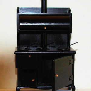 Black timber stove