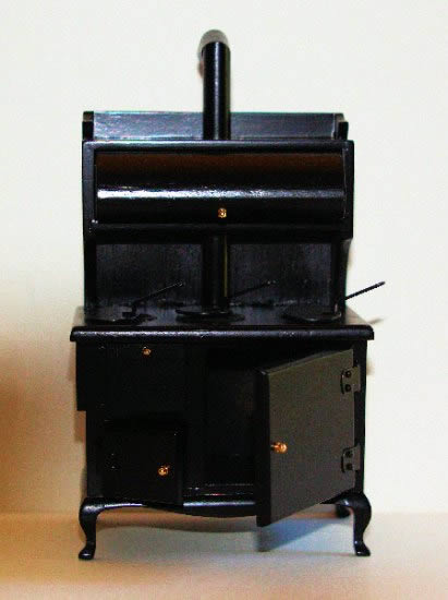 Black timber stove