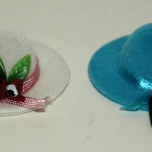 Velvet hats, wide brim