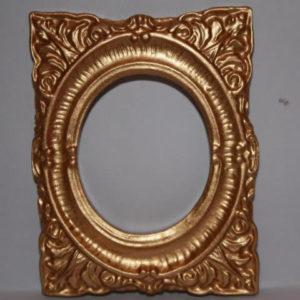 Gold frame, heavily embossed