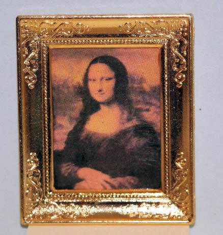 Gold framed mona lisa