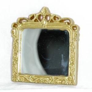 Mirror large rectangle, gold detail frame
