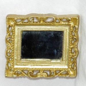 Mirror, gold detail, rectangle, medium