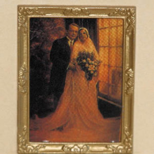 Portrait, bride and groom