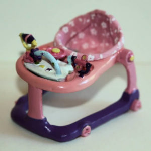 Pink hand tooled baby walker