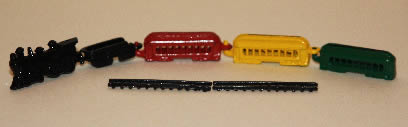 Train set, 5 pce metal