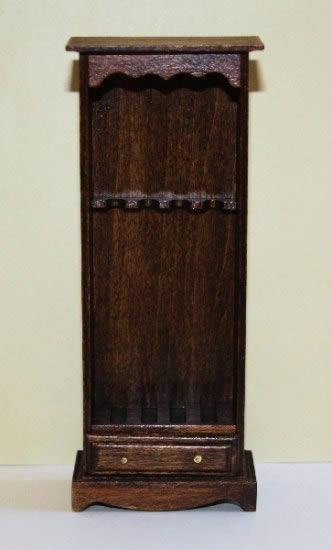 Mahogany standing gun cabinet