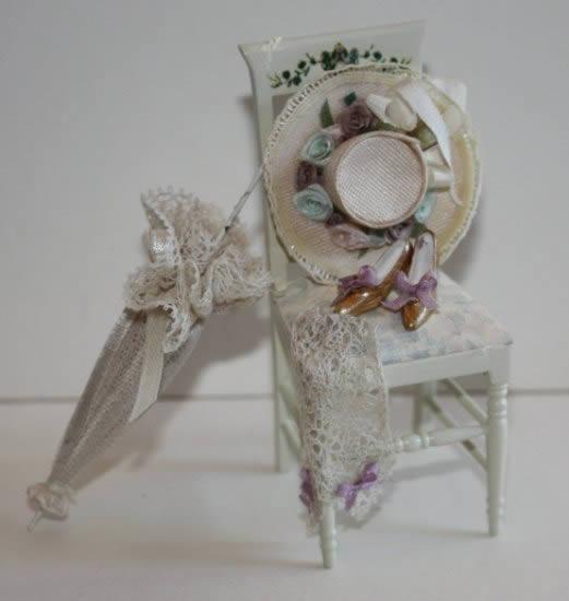 Elegant dressed chair