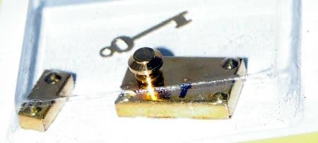 Door handle gold lock latch and key