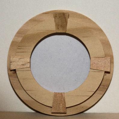Round timber window