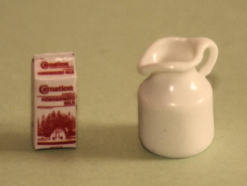 Milk jug and carton