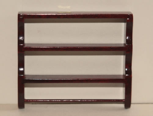 Mahogany wall shelf