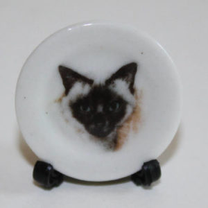 Siamese cat plate