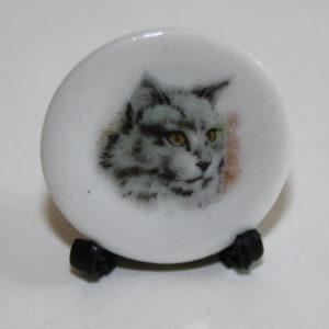 Grey cat plate