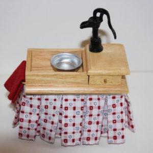 Kitchen sink with cupboard
