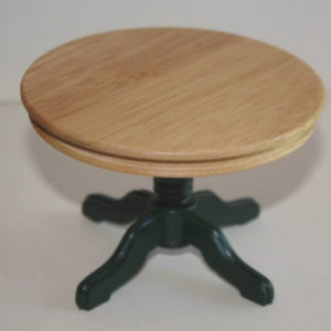 Round green base kitchen table