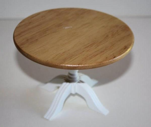 Round green base kitchen table