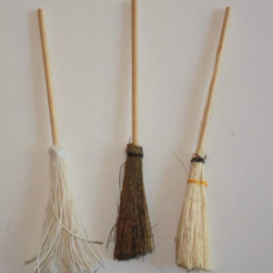 European brooms, set of 3