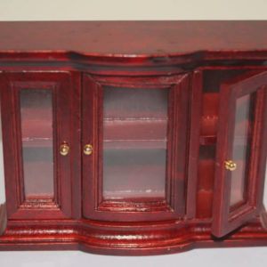 Mahogany glass cabinet