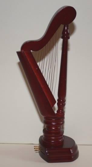 Mahogany harp