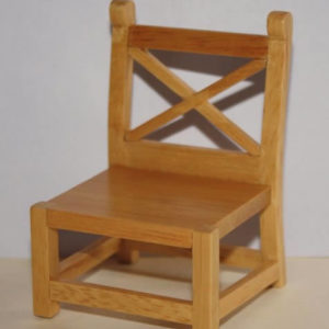 Oak low chair