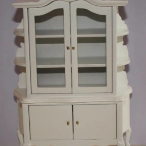 White 4 door display cabinet