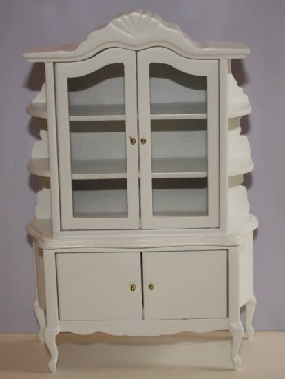 White 4 door display cabinet