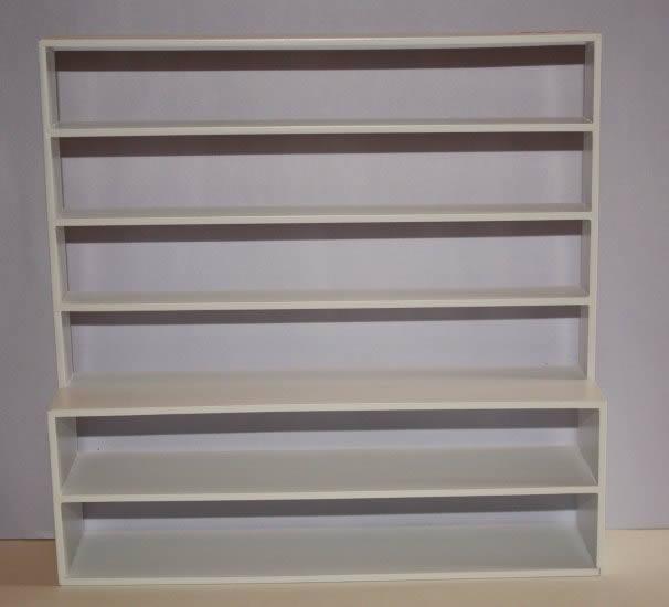 Large bookcase, 6 shelves, white