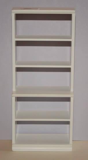 5 shelf bookcase, white