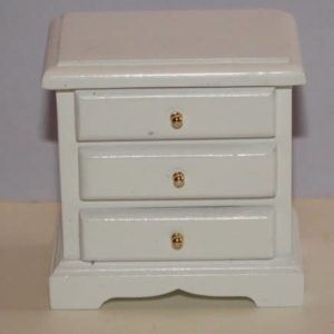 Bedside drawers, white timber