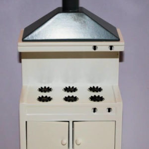 Stove with range hood  white