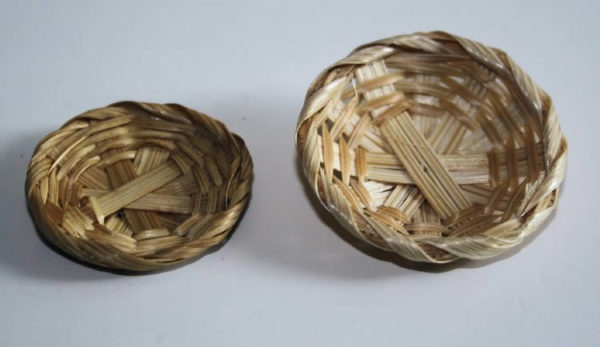 Cane baskets, set of two