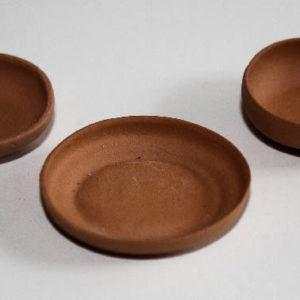 Terracotta bonsai pots, set of 3
