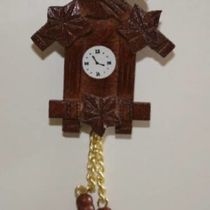 Cuckoo clock, carved
