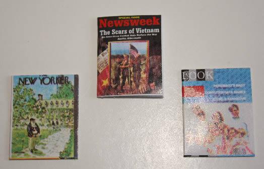 Printed magazines, set of three