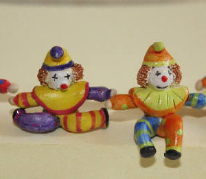 Ceramic hand painted clowns