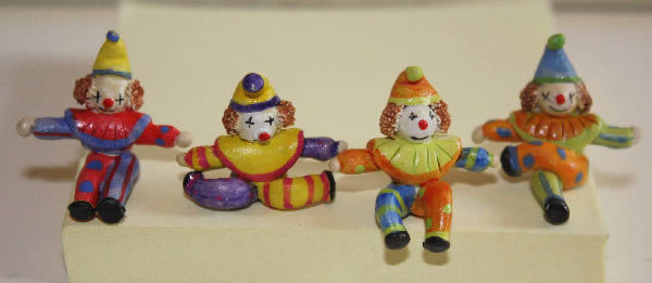 Ceramic hand painted clowns