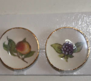China Plates, set of two. #1