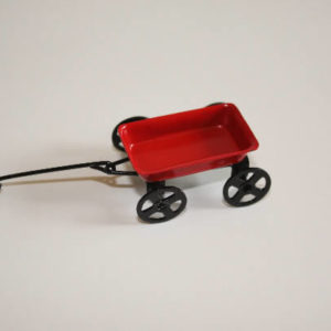 Red tin wagon small