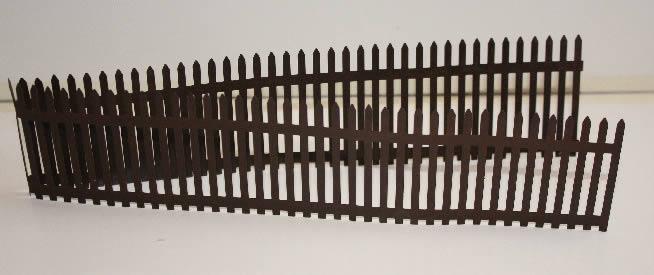 Brown   rusty metal fencing