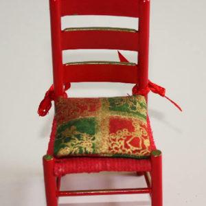 Red santa chair
