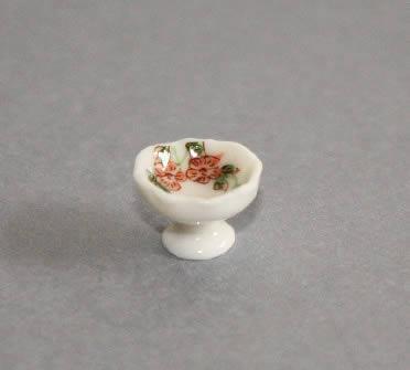 White porcelain fruit bowl