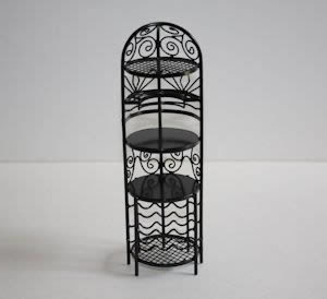 Black wire round wine rack