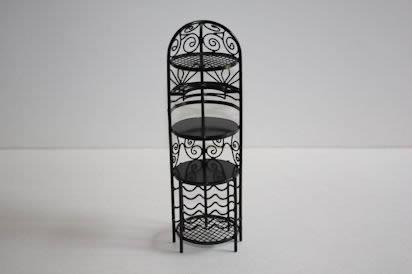 Black wire round wine rack