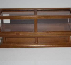 Glass counter walnut