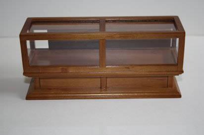 Glass counter walnut