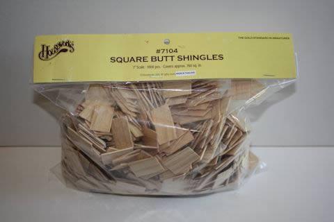 Timber shingles square but 1000pcs