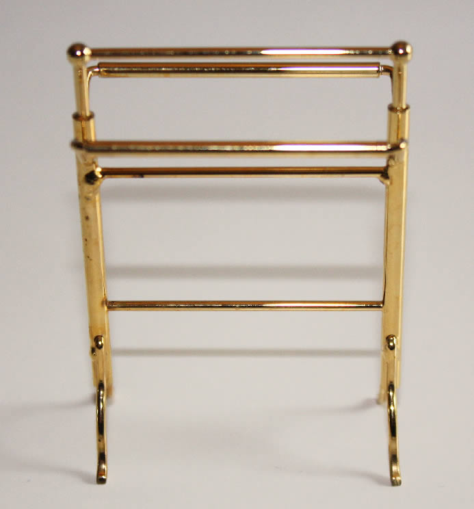 Gold  towel stand
