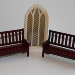 Church pews - mahogany