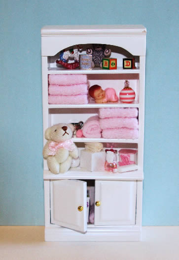 White cabinet - baby items   blue only available
